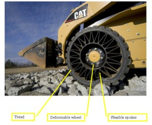 Michelin Tweel airless tyre development
