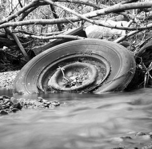Old car tyres represent safety risk if not scrapped or disposed