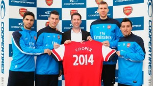 Arsenal Enters Multi-Year Contract with Cooper Tyres
