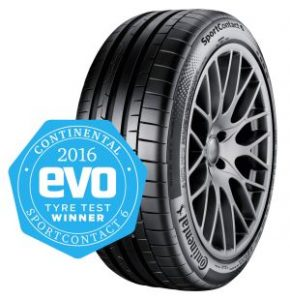 Continental's SportContact 6 wins evo tyre test 2016